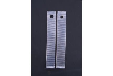 Ozdobný hliníkový plech ,,B,, sloupku Tatra 603 - cena za pár